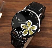Наручные часы женские с черным ремешком код 181