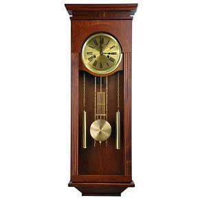Деревянные настенные часы Tempus с маятником и боем, цвет вишня, фото 2
