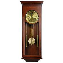 Деревянные настенные часы Tempus с маятником и боем, цвет вишня
