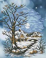 Схема для вышивания бисером Зима в селе БИС3-31 (А3)