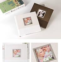 """Кожаный фотоальбом """"Воспоминание"""", 2 расцветки Размер 22х22 см, 200 фото 10х15см"""