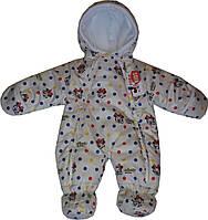 Детский комбинезон, весенний человечек Минни Маус (белый), для девочки. Р-р 74/80 (6-12 мес)