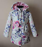Куртка на девочку демисезонная,детская, с ярким принтом