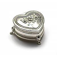 Шкатулка для украшений металлическая Сердечко
