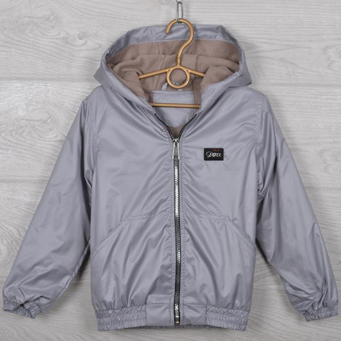"""Куртка-ветровка подростковая """"Fashion"""". 116-140 см (6-10 лет). Серая. Оптом."""