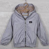 """Куртка-ветровка подростковая """"Fashion"""". 116-140 см (6-10 лет). Серая. Оптом., фото 1"""