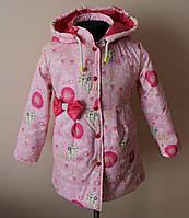 Куртка на девочку демисезонная,детская, с ярким принтом, фото 1