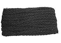 Тесьма косичка Черная 10 мм 11 метров