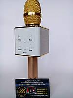 Новинка! Микрофон Караоке беспроводной, плеер, колонка  Q7 Tuxun Micgeek (USB, AUX, Bluetooth)