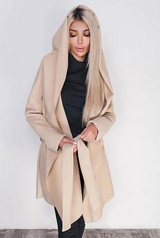 Пальто великих розмірів -ЛАГЕРТА - молочний