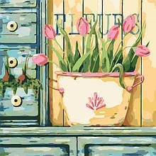 Картина по номерам Розовые тюльпаны
