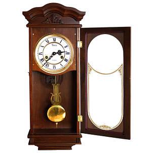 Деревянные настенные часы Tempus с маятником и боем, цвет орех, фото 2