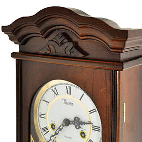 Деревянные настенные часы Tempus с маятником и боем, цвет орех, фото 3