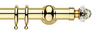 Карниз латунь/Сваровски, диаметр 35, 30, разные цвета, фото 1
