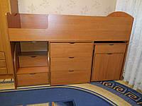"""Детская кровать чердак """"Школьник"""" Ольха плюс ящик для игрушек, фото 1"""