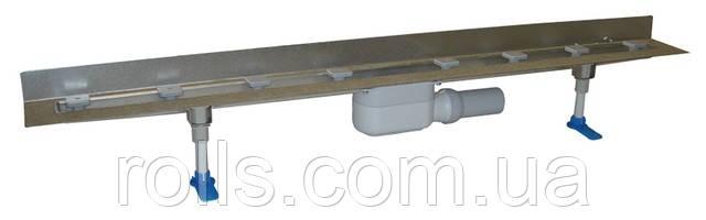HL50W.0/120 Угловой душевой лоток пристенный для линейного отведения воды,сифон DN50, с материалом для монтажа