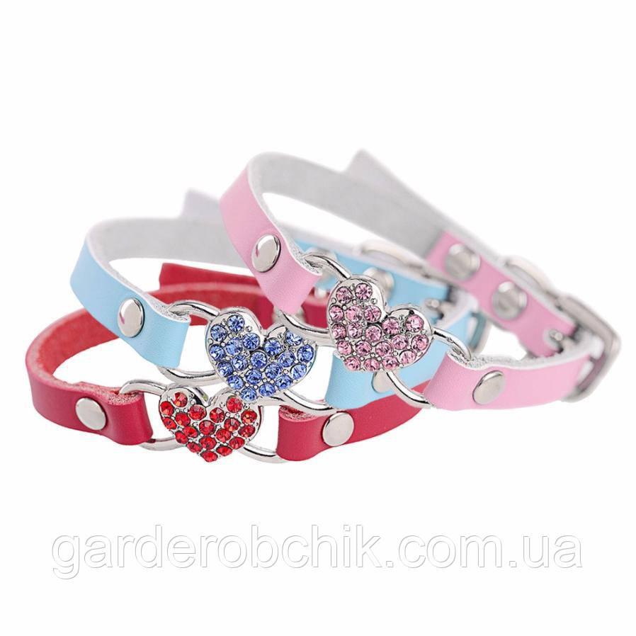 """Ошейник для собак, кошек с украшением """"Цветное сердце"""". Ошейник для животных"""