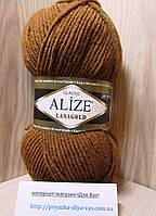 Полушерстяная пряжа (49%-шерсть,51%-акрил,100г/240м) Alize Lanagold 373(ириска)