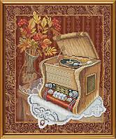 Набор для вышивания нитками на канве Старый патефон СР 3178