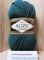 Полушерстяная пряжа (49%-шерсть,51%-акрил,100г/240м) Alize Lanagold 426(тёмн.зелёный)