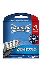Wilkinson Sword Quattro  Набор сменных лезвий  6шт  XL pack Код 11353