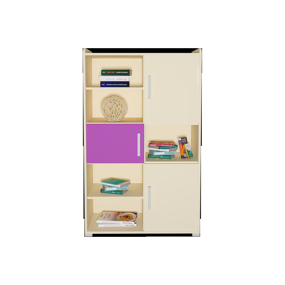 Шафа в дитячу кімнату з ДСП/МДФ для книг SMART 4 Blonski пісочний+сакура
