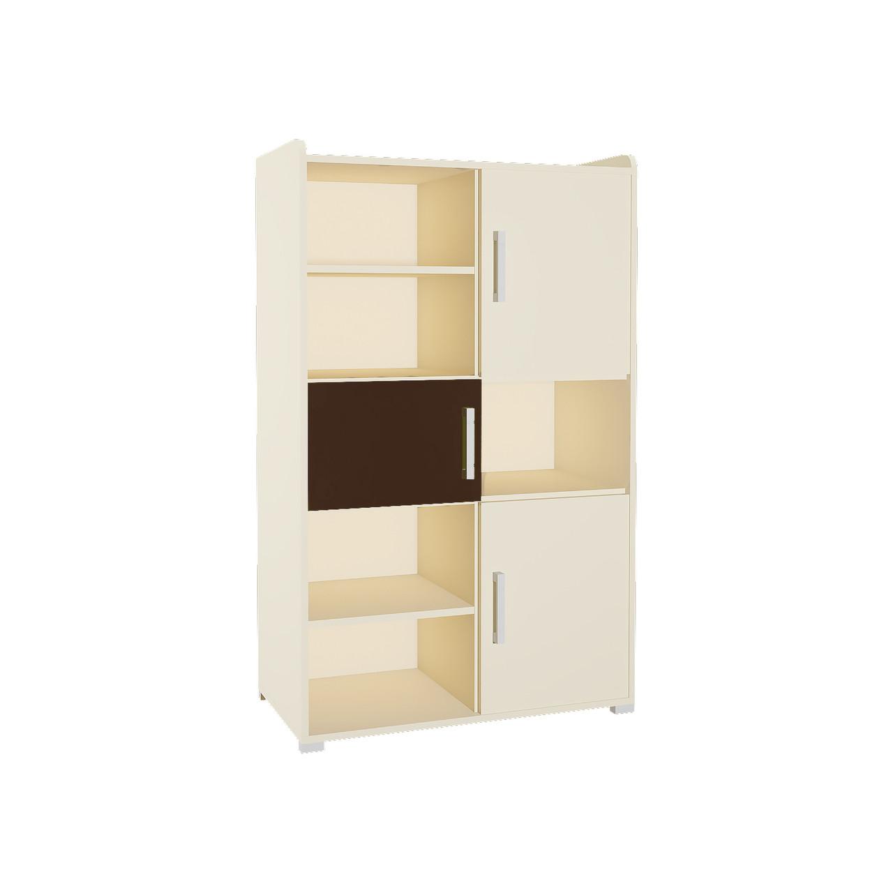 Шафа в дитячу кімнату з ДСП/МДФ для книг SMART 4 Blonski пісочний+шоколад