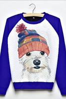 Детский свитшот для девочки Dog (электрик)