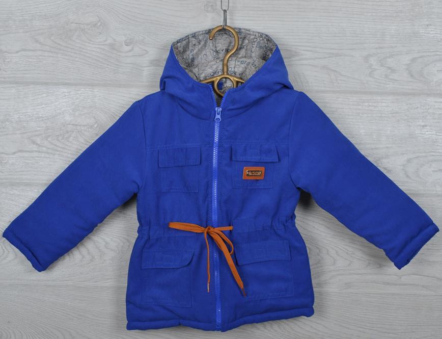 "Куртка-парка демисезонная ""Fashion"". 92-116 см (2-6 лет). Электрик. Оптом."