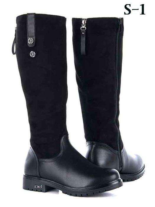 РАСПРОДАЖА 37 размер! Женские черные  высокие замшевые кожаные (эко) сапоги черные сапожки