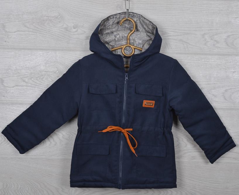 "Куртка-парка демисезонная ""Fashion"". 92-116 см (2-6 лет). Темно-синяя. Оптом."