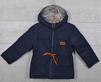 "Куртка-парка демисезонная ""Fashion"". 92-116 см (2-6 лет). Темно-синяя. Оптом., фото 1"