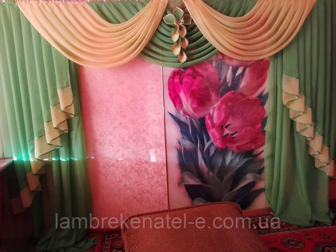 Ламбрекен шторы в зал