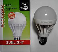 Светодиодная лампа LED E27 9W РАСПРОДАЖА