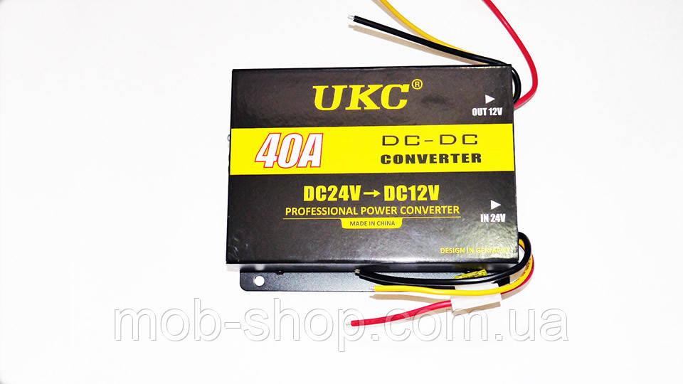 Автомобильный преобразователь UKC 40А 24В в 12В