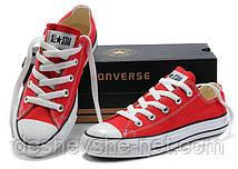 Кеды в стиле  Converse ALL STAR (конверсы) Красные низкие