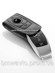 Кожаный чехол для ключей Mercedes-Benz Key Sleeve, Gen. 6, Leather, Black