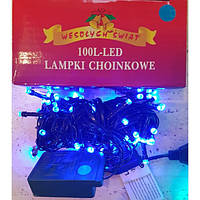 Гирлянда на 100 LED синяя