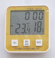 Термометр гигрометр DC-107, с часами, календарем, фото 1