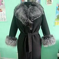 Шикарное зимнее пальто с чернобуркой