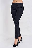 Женские классические брюки в мелкую клетку, синего цвета
