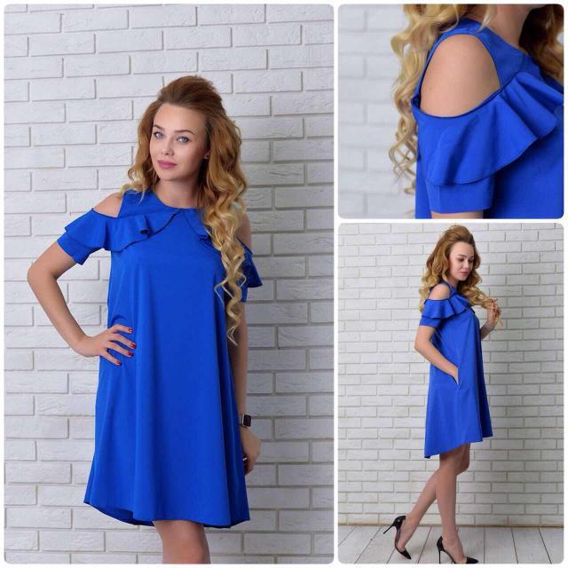 Платье, модель 785, цвет - электрик