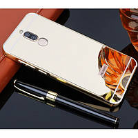 Металлический бампер с акриловой вставкой с зеркальным покрытием для Huawei Mate 10 lite, Nova 2i