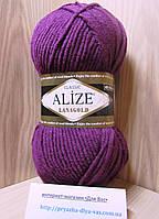 Полушерстяная пряжа (49%-шерсть,51%-акрил,100г/240м) Alize Lanagold 307(гнилая вишня)