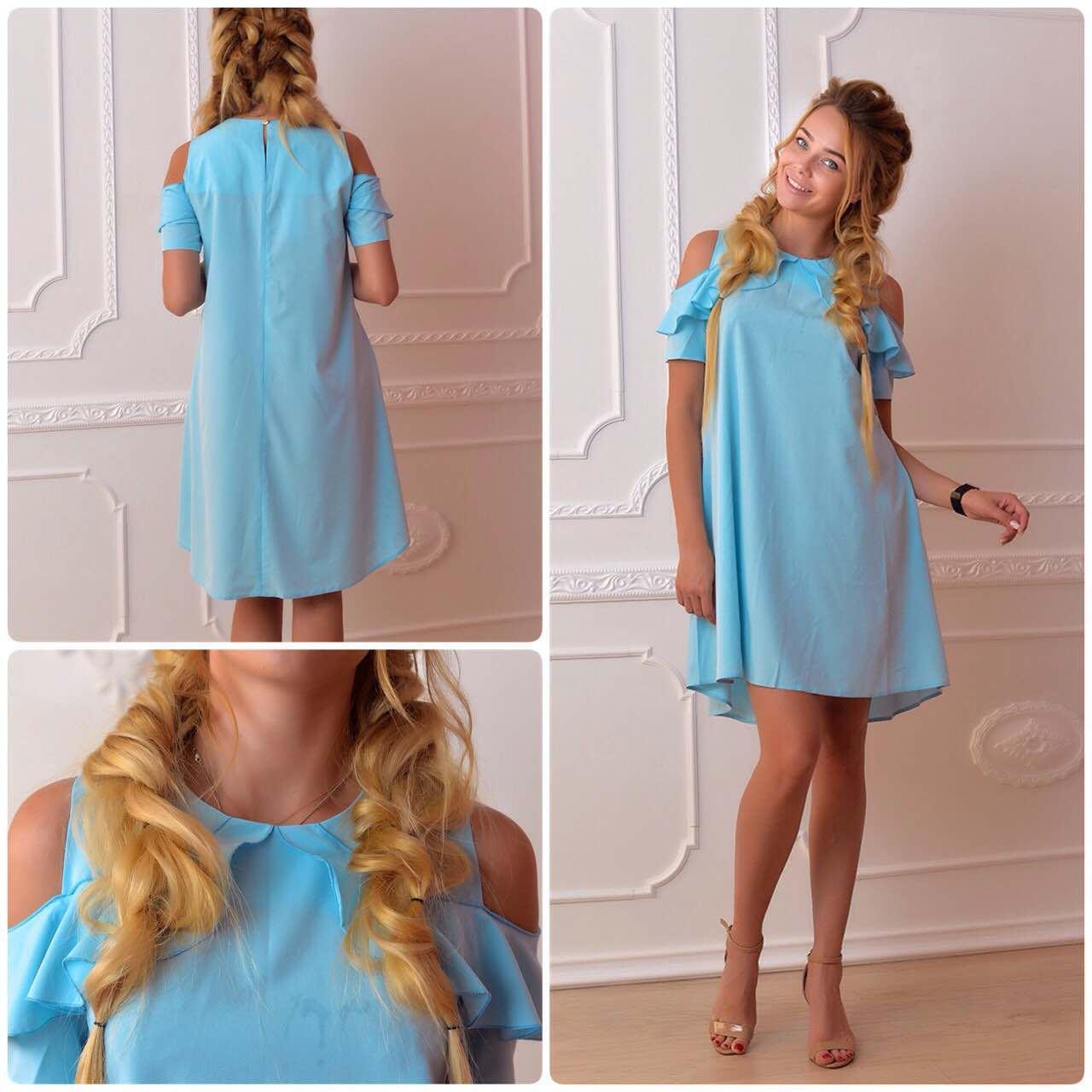 Сукня, модель 785, колір - блакитний