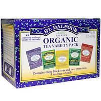 St. Dalfour, Органический чай с разными вкусами, 25 чайных пакетиков, 1.75 унций (50 г)