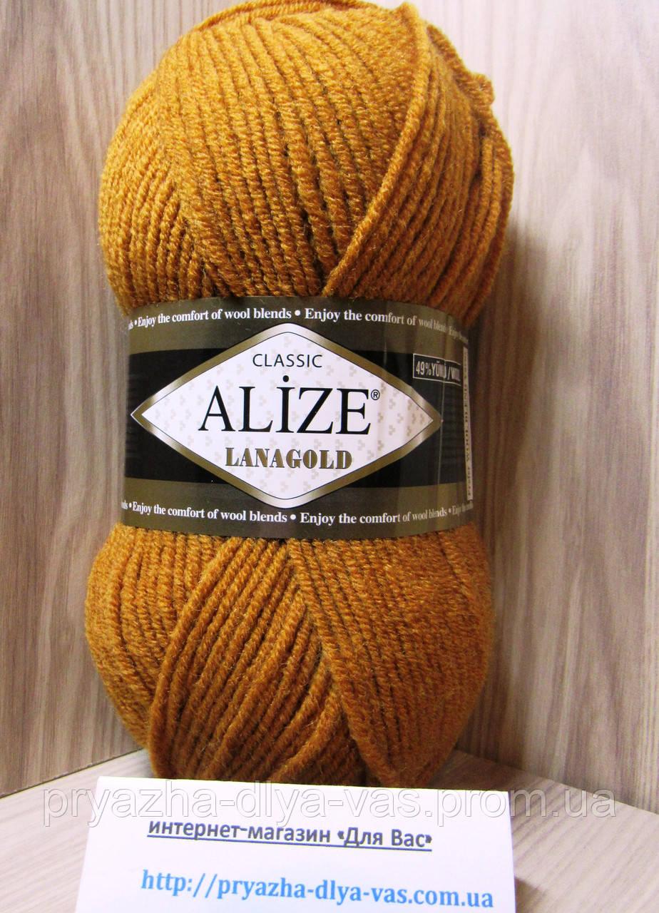 Полушерстяная пряжа (49%-шерсть,51%-акрил,100г/240м) Alize Lanagold 234(рыжий)