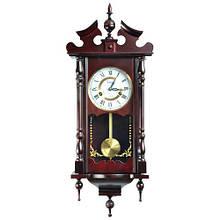 Деревянные настенные часы Tempus с маятником и боем, красное дерево