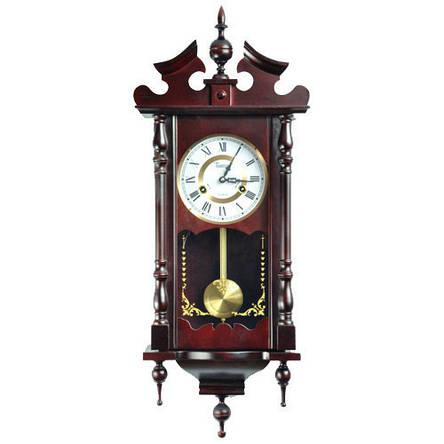 Деревянные настенные часы Tempus с маятником и боем, красное дерево, фото 2