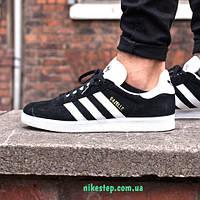 Мужские беговые кроссовки Adidas Gazelle черные